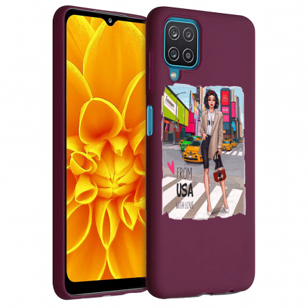 Husa Samsung Galaxy A12 - A42  - Silicon Matte - From USA With Love [2]
