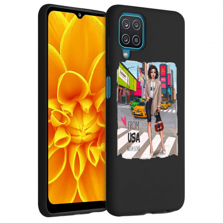 Husa Samsung Galaxy A12 - A42  - Silicon Matte - From USA With Love [6]