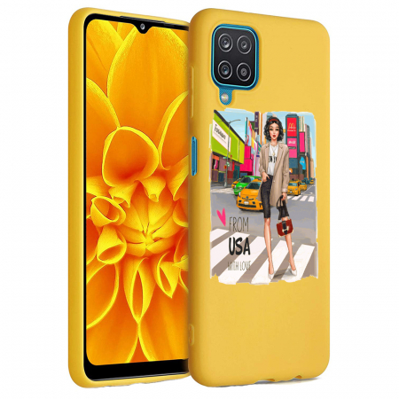 Husa Samsung Galaxy A12 - A42  - Silicon Matte - From USA With Love [1]
