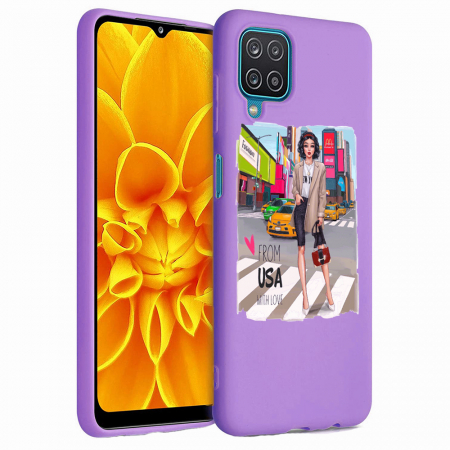 Husa Samsung Galaxy A12 - A42  - Silicon Matte - From USA With Love [5]