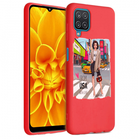 Husa Samsung Galaxy A12 - A42  - Silicon Matte - From USA With Love [3]