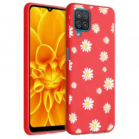 Husa Samsung Galaxy A12 - A42  - Silicon Matte - Flowers 1 [5]