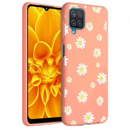Husa Samsung Galaxy A12 - A42  - Silicon Matte - Flowers 1 [4]