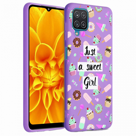 Husa Samsung Galaxy A12 - A42  - Silicon Matte - Just a sweet girl [5]