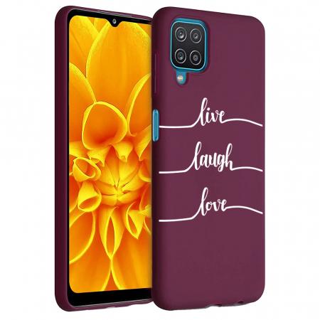 Husa Samsung Galaxy A12 - A42  - Silicon Matte - Live Love [0]