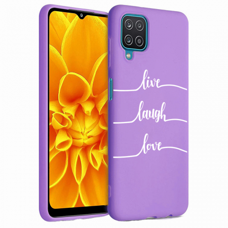 Husa Samsung Galaxy A12 - A42  - Silicon Matte - Live Love [4]