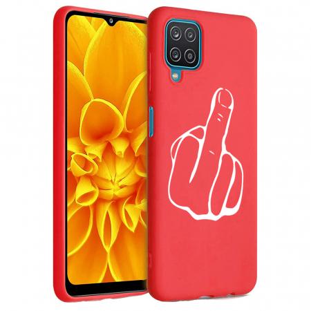 Husa Samsung Galaxy A12 - A42  - Silicon Matte - Middle Finger [6]