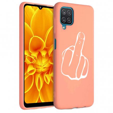Husa Samsung Galaxy A12 - A42  - Silicon Matte - Middle Finger [5]