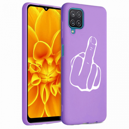Husa Samsung Galaxy A12 - A42  - Silicon Matte - Middle Finger [4]