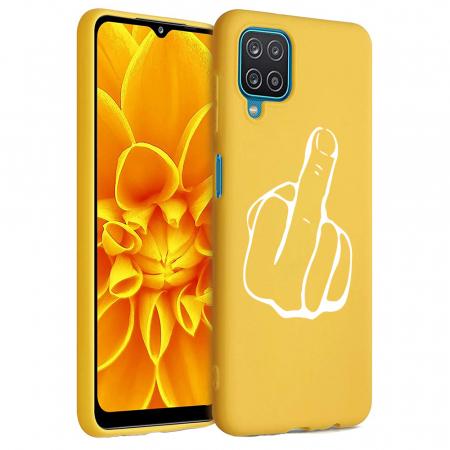 Husa Samsung Galaxy A12 - A42  - Silicon Matte - Middle Finger [1]