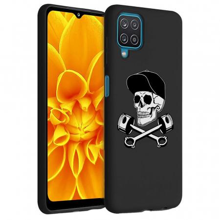 Husa Samsung Galaxy A12 - A42  - Silicon Matte - Motor Skull [5]