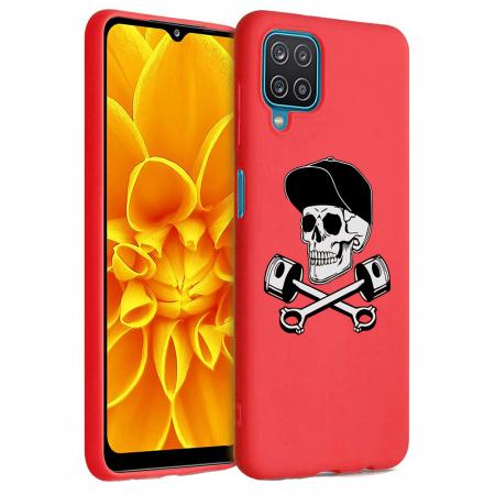 Husa Samsung Galaxy A12 - A42  - Silicon Matte - Motor Skull [2]
