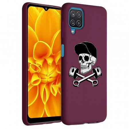 Husa Samsung Galaxy A12 - A42  - Silicon Matte - Motor Skull [1]