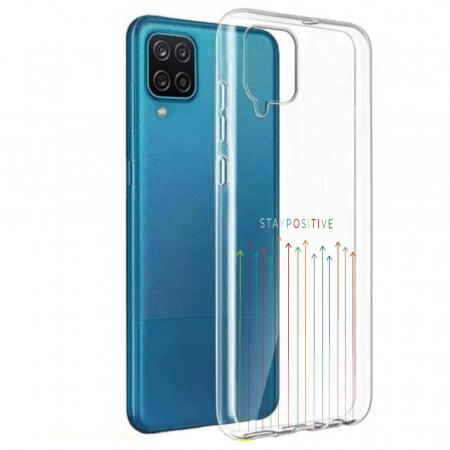 Husa Samsung Galaxy A12 - A42  - Silicon Matte - Stay Positive [7]