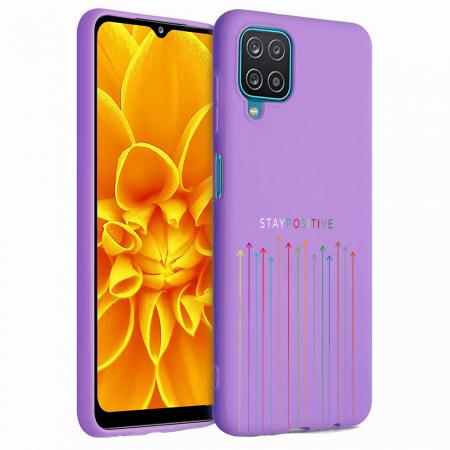Husa Samsung Galaxy A12 - A42  - Silicon Matte - Stay Positive [0]