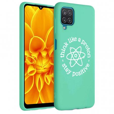 Husa Samsung Galaxy A12 - A42  - Silicon Matte - Stay positive [2]