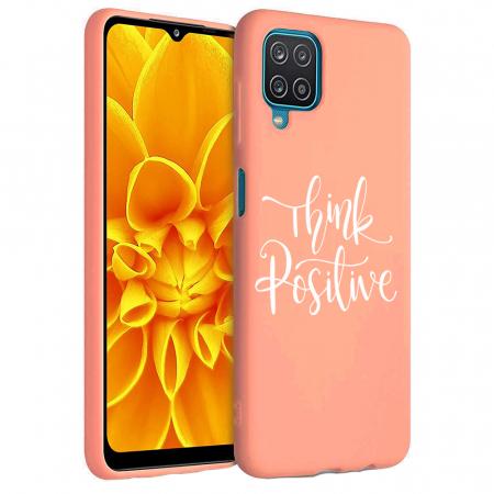 Husa Samsung Galaxy A12 - A42  - Silicon Matte - Think positive [5]