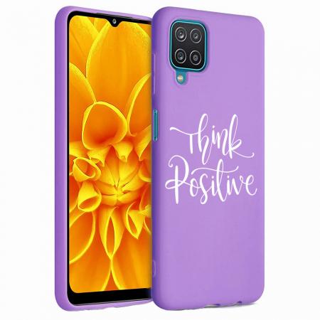 Husa Samsung Galaxy A12 - A42  - Silicon Matte - Think positive [4]