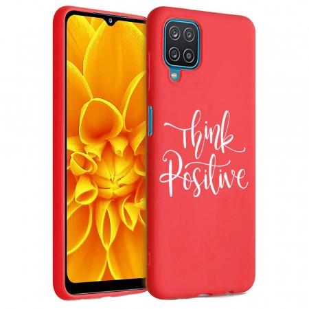 Husa Samsung Galaxy A12 - A42  - Silicon Matte - Think positive [6]