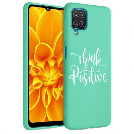 Husa Samsung Galaxy A12 - A42  - Silicon Matte - Think positive [3]