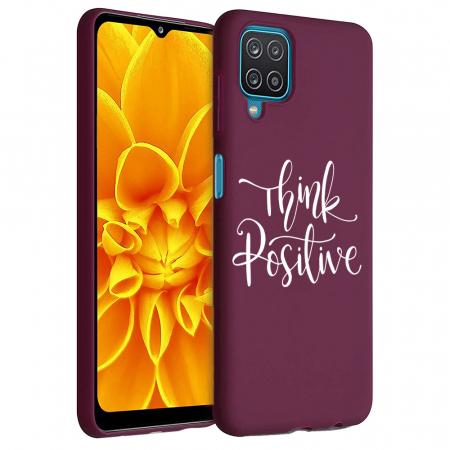 Husa Samsung Galaxy A12 - A42  - Silicon Matte - Think positive [0]
