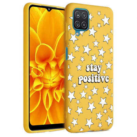Husa Samsung Galaxy A12 - A42  - Silicon Matte - Stay Positive 2 [1]