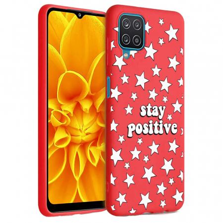 Husa Samsung Galaxy A12 - A42  - Silicon Matte - Stay Positive 2 [0]