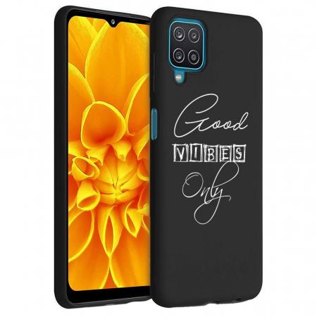 Husa Samsung Galaxy A12 - A42  - Silicon Matte - Good Vibes [2]