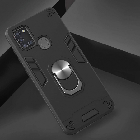 Husa Samsung Galaxy A21S Hybrid Ring Kickstand - negru [1]
