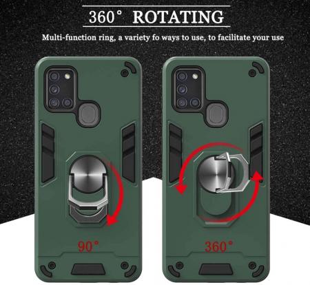 Husa Samsung Galaxy A21S Hybrid Ring Kickstand - negru [3]
