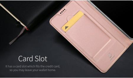 Husa  Samsung Galaxy A8 (2018) - Dux Ducis din piele eco - rose gold4