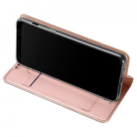 Husa  Samsung Galaxy A8 (2018) - Dux Ducis din piele eco - rose gold1
