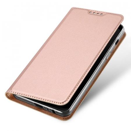 Husa  Samsung Galaxy A8 (2018) - Dux Ducis din piele eco - rose gold0