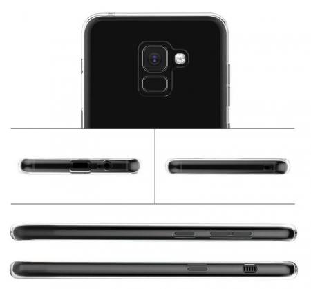 Husa Samsung Galaxy A8 2018 Soft TPU 0.8 mm - transparent3
