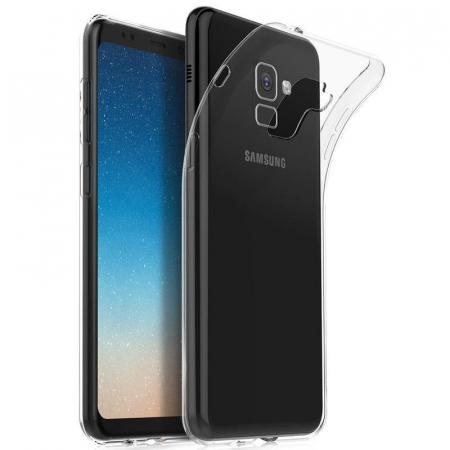 Husa Samsung Galaxy A8 2018 Soft TPU 0.8 mm - transparent0