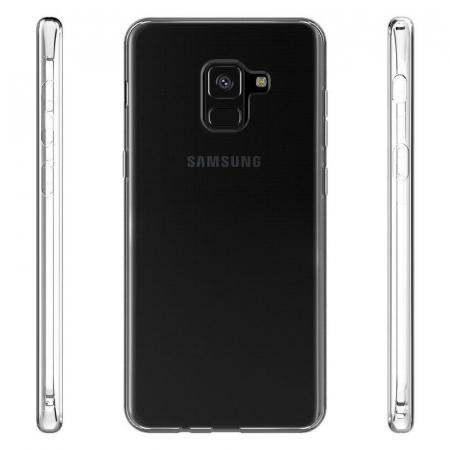 Husa Samsung Galaxy A8 2018 Soft TPU 0.8 mm - transparent6