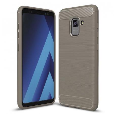 Husa Samsung  Galaxy A8 (2018) - Tpu Carbon Fibre Brushed - gri0