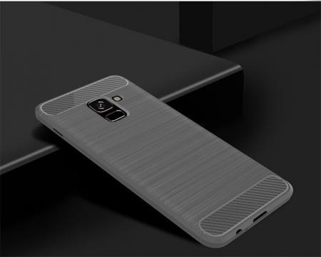 Husa Samsung  Galaxy A8 (2018) - Tpu Carbon Fibre Brushed - gri2
