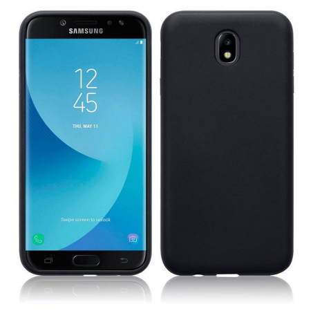 Husa  Samsung J7 2017  Silicon Matte TPU extra slim - negru2