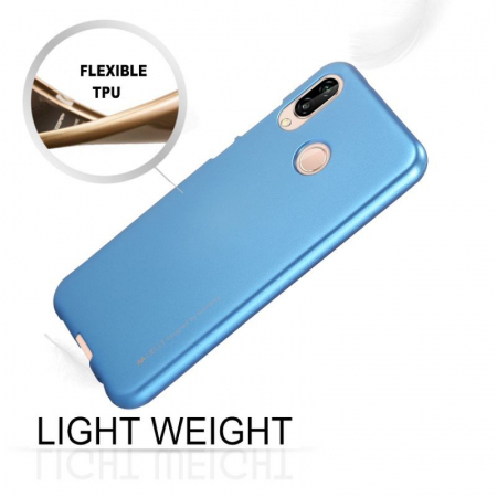 Husa   Silicon Huawei P20 Lite Goospery Mercury i-Jelly - albastru2