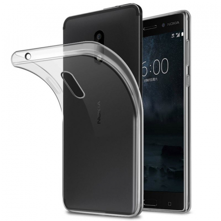 Husa  Nokia 3 Silicon TPU extra slim 0.5 mm - transparent0