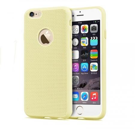 Husa iPhone 6 / iPhone 6s silicon TPU impletit - bej1