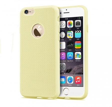 Husa iPhone 6 / iPhone 6s silicon TPU impletit - bej0