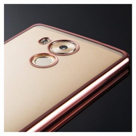 Husa Silicon TPU Plating Ultra Thin Huawei Mate 8 - rose gold 3