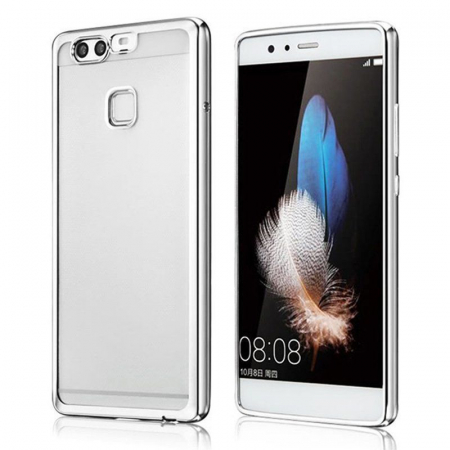 Husa Silicon TPU Plating Ultra Thin Huawei P9 - argintiu0