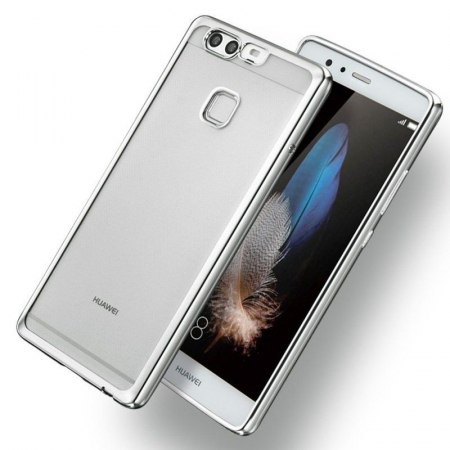 Husa Silicon TPU Plating Ultra Thin Huawei P9 - argintiu1