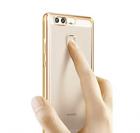 Husa Silicon TPU Plating Ultra Thin Huawei P9 - gold2