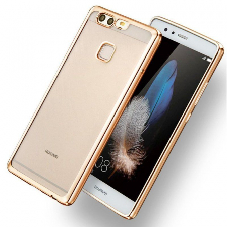 Husa Silicon TPU Plating Ultra Thin Huawei P9 - gold3