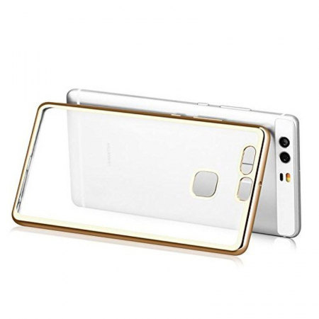 Husa Silicon TPU Plating Ultra Thin Huawei P9 - gold6