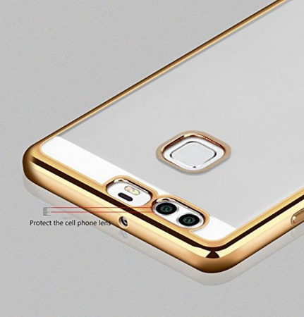 Husa Silicon TPU Plating Ultra Thin Huawei P9 - gold5